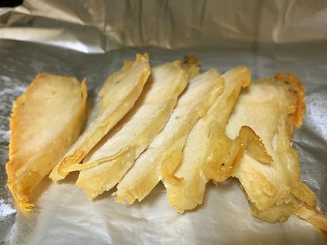 オーブントースターで焼く 鶏むね肉ジャーキーの作り方