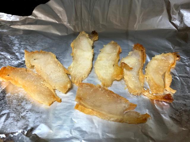 オーブントースターで焼く 鶏むね肉ジャーキーの作り方2